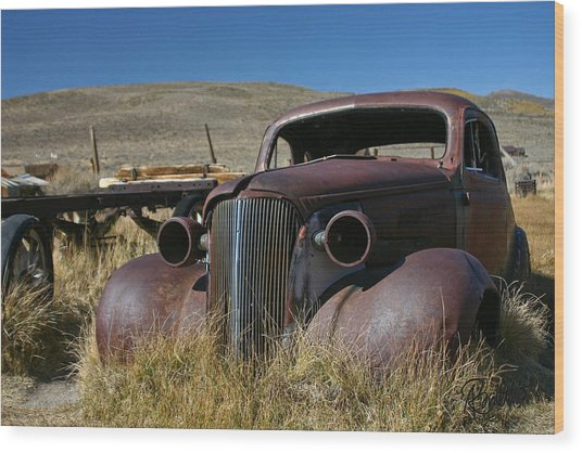 '37 Chevy In Bodie Wood Print