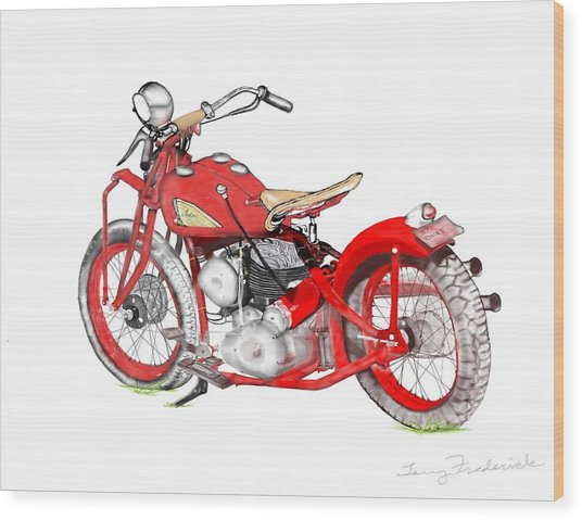 37 Chief Bobber Wood Print