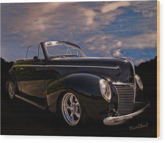 39 Mercury Convertible Wood Print