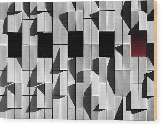 3d Facade Wood Print