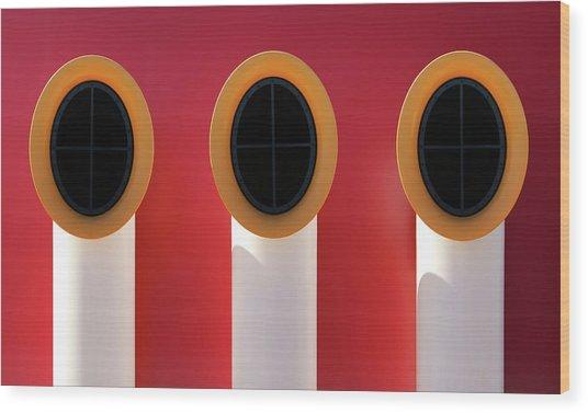 3x0 Wood Print by Hans-wolfgang Hawerkamp