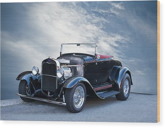 1930 Ford Model A Roadster Wood Print by Dave Koontz