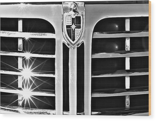 1948 Lincoln Continental Grille Emblem Wood Print