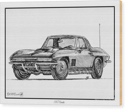 1967 Corvette Wood Print