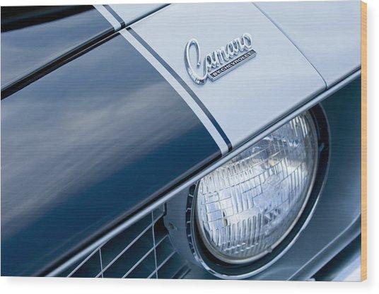 1969 Chevrolet Camaro Z-28 Emblem Wood Print