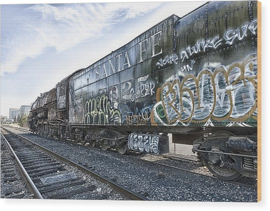 Wood Print featuring the photograph 4 8 4 Atsf 2925 In Repose by Jim Thompson