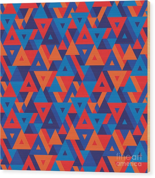 Abstract Geometric Background - Wood Print