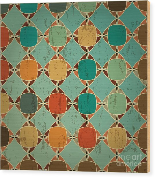 Abstract Geometric Pattern Background Wood Print by Kirsten Hinte