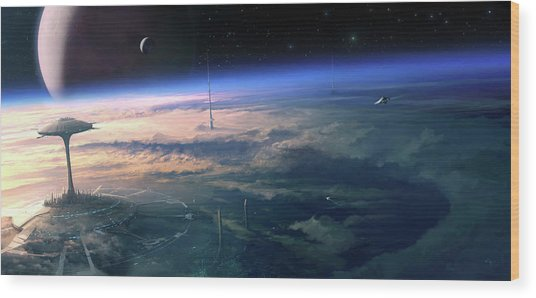 Alien Civilisation Wood Print by Gary Tonge / Science Photo Library