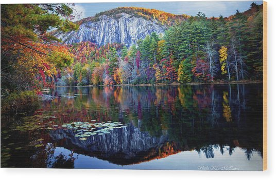 Bald Rock Mountain Nc Wood Print