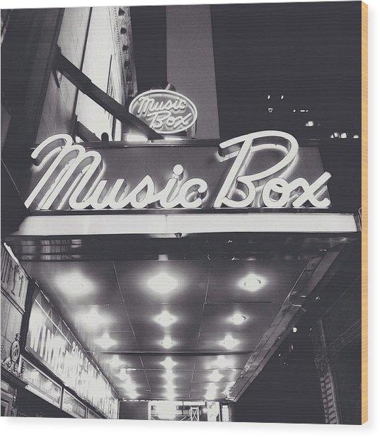 Broadway Wood Print