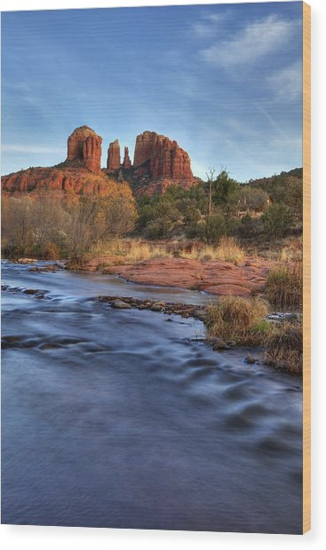 Cathedral Rocks In Sedona Wood Print