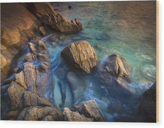 Chanteiro Beach Galicia Spain Wood Print