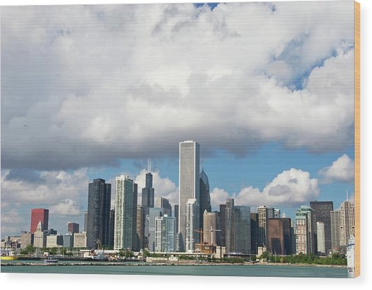 Chicago Wood Print by Jim West