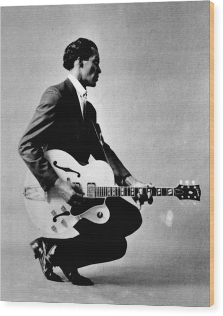 Chuck Berry Wood Print
