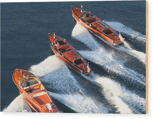 Classic Runabouts Wood Print