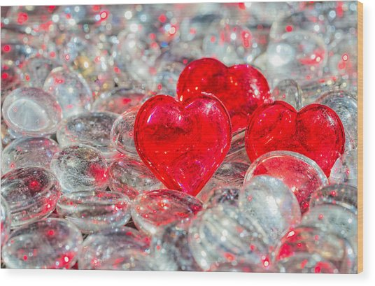 Crystal Heart Wood Print