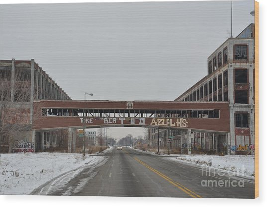 Detroit Packard Plant Wood Print