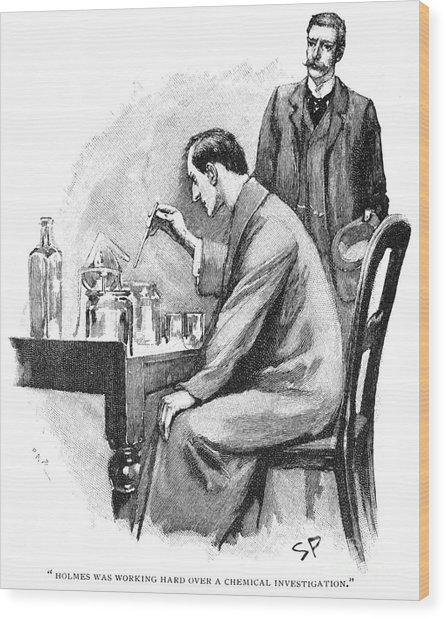 Doyle: Sherlock Holmes Wood Print