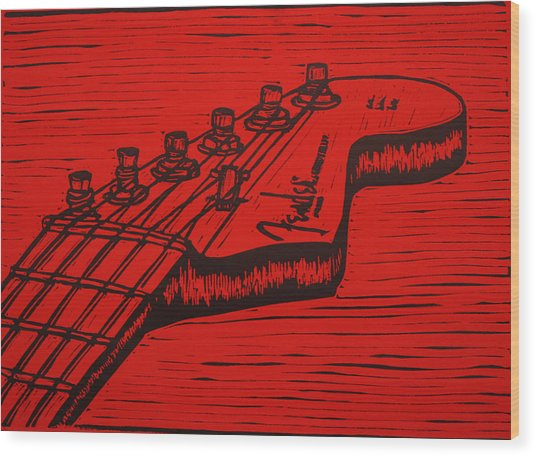 Fender Strat Wood Print