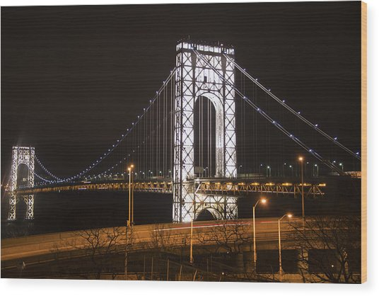 George Washington Bridge On President's Day Wood Print