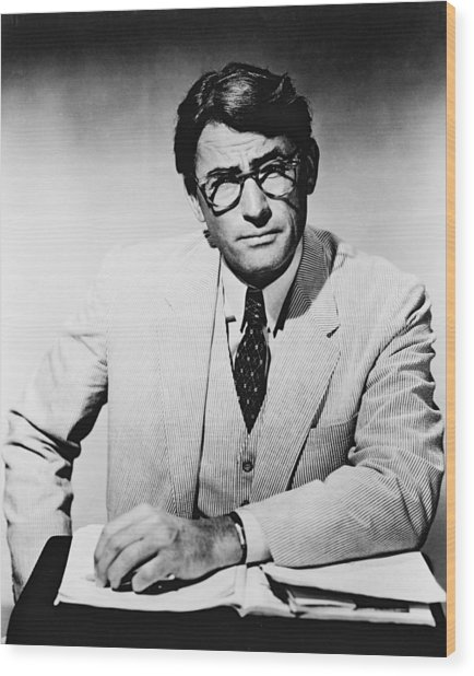 Gregory Peck In To Kill A Mockingbird  Wood Print