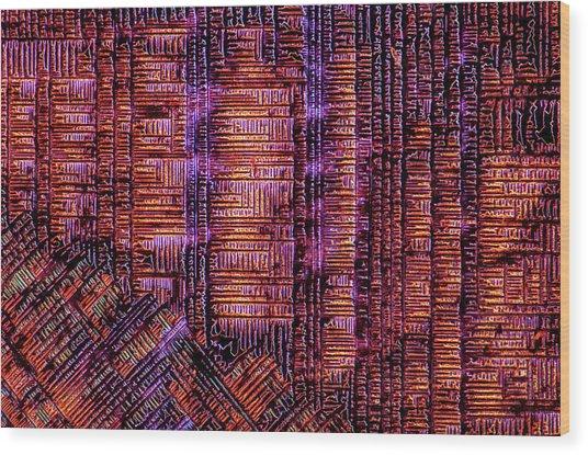 Haematoxylin Crystals Wood Print by Marek Mis