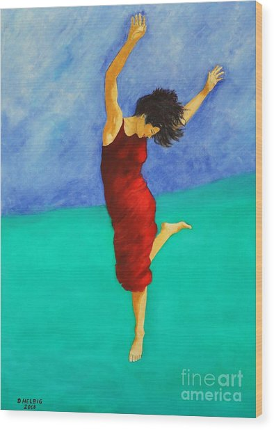 Jump Of Joy Wood Print