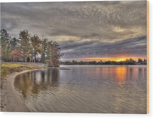 4 Lake Lenape W Sunrise6 Wood Print