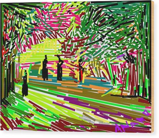 Landscape-1 Wood Print