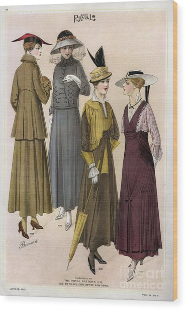 Le Costume Royal 1915 1910s Usa  Cc Wood Print by The Advertising Archives