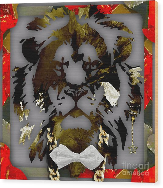 Lion Collection Wood Print