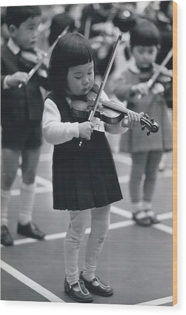 Little Fiddlers Make Big Music Wood Print by Retro Images Archive