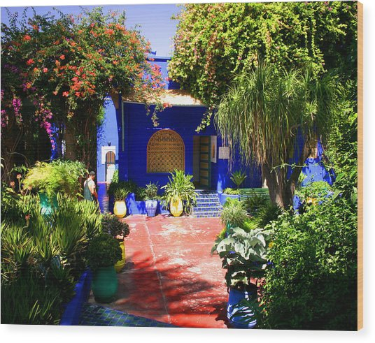 Majorelle Garden Marrakesh Morocco Wood Print by PIXELS  XPOSED Ralph A Ledergerber Photography