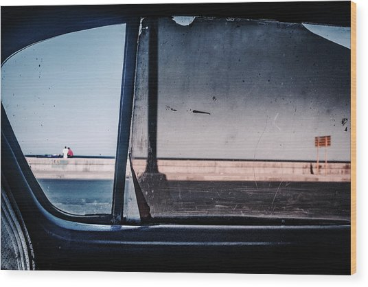 Malecon Wood Print by Andreas Bauer