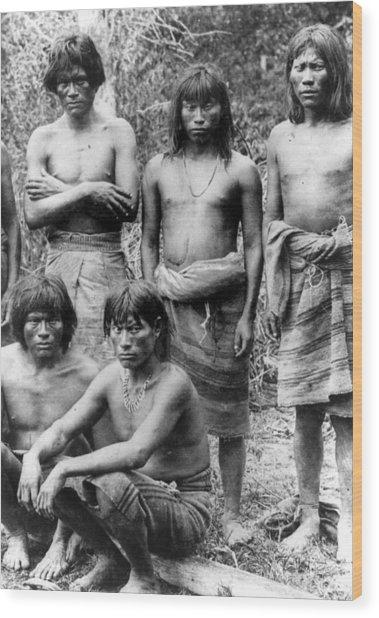 Native Brazilians Wood Print by Granger