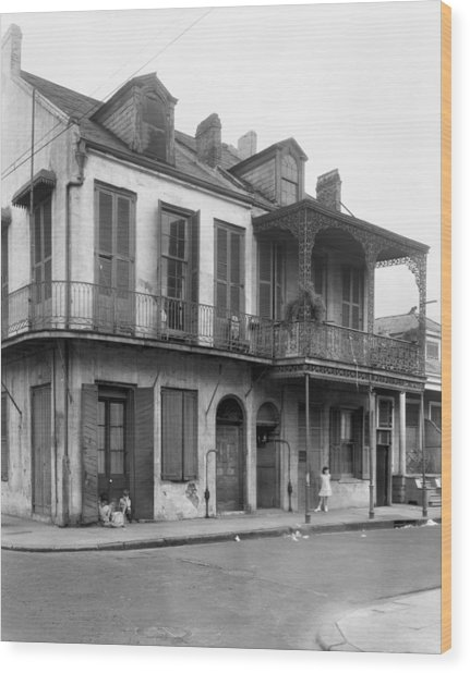 New Orleans House Wood Print by Granger