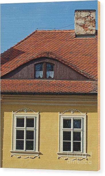 Old House Wood Print by Sarka Olehlova