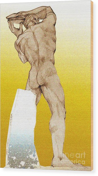 Olympic Athletics Discus Throw Wood Print