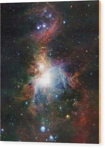 Orion Nebula Wood Print by European Southern Observatory/science Photo Library