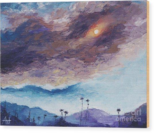 Palm Springs Summer Wood Print