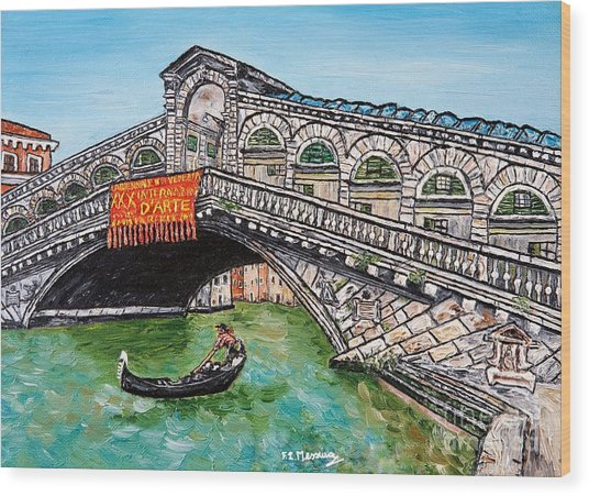 Ponte Di Rialto Wood Print