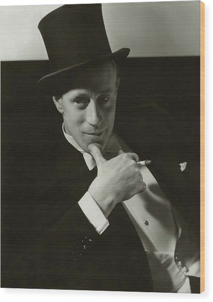 Portrait Of Leslie Howard Wood Print by Edward Steichen