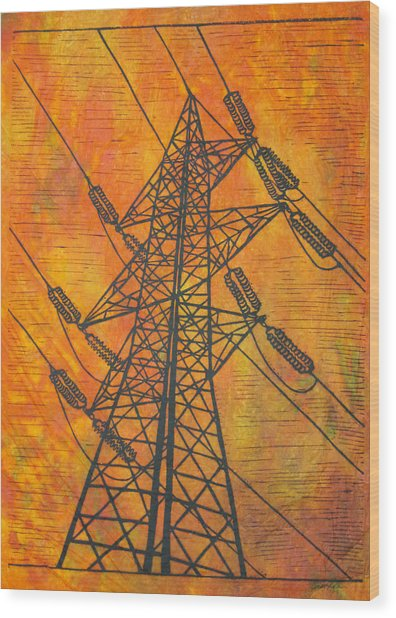 Power Wood Print by William Cauthern