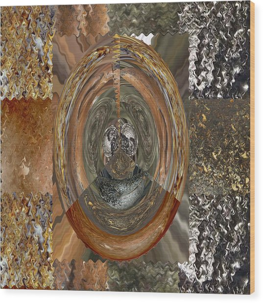 Rareearth Rare Earth Stones Minerals Microphotography Micro Photography Tiled Square Silver Chrome B Wood Print