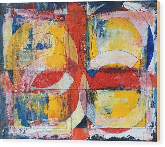4 Rings 4 Squares Wood Print by Mark Opdahl