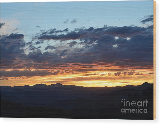 Wood Print featuring the photograph Rocky Mountain Sunset by Kate Avery