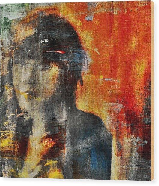 Shadows (portrait) Wood Print by Dalibor Davidovic