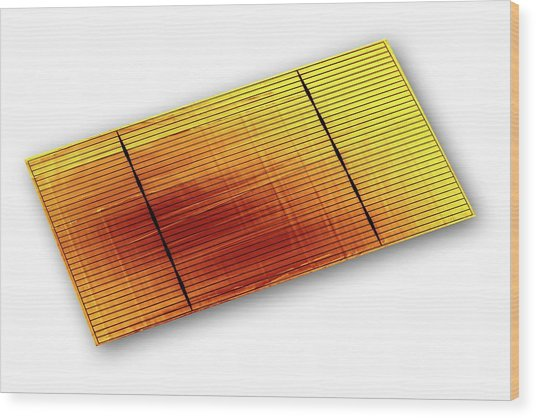 Solar Cell Wood Print by Alfred Pasieka