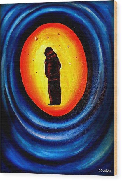 Spiritual Journey-1 Wood Print by Carmen Cordova